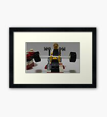 Lego Gym Workout Framed Print