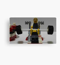 Lego Gym Workout Canvas Print
