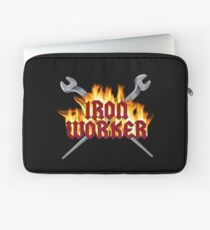 Iron Worker Flaming Spud Wrenches Laptop Sleeve