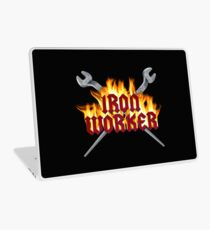 Iron Worker Flaming Spud Wrenches Laptop Skin