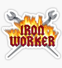 Iron Worker Flaming Spud Wrenches Sticker
