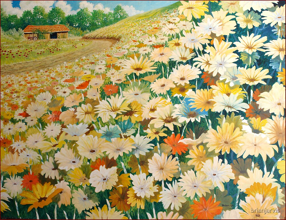 Fields of Flowers. by brianjarvis