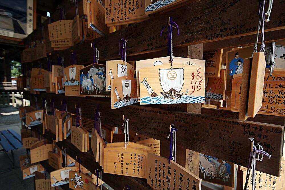 Omamori II - Ema board - Kompira-san by Trishy