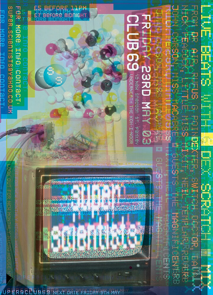 Super Scientists Flyer 23/05/2003 by santakaoss