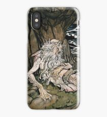 Arthur Rackham - A Crowned Merman A Sea God Sleeping On A Rocky Shore iPhone Case/Skin
