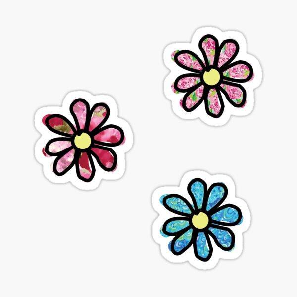 Flower - 3 Pack Floral Sticker