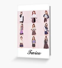TWICE Greeting Card