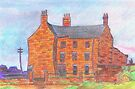 191 - LINK HOUSE, BLYTH, 1924 - DAVE EDWARDS - COLOURED PENCILS - 2007 by BLYTHART