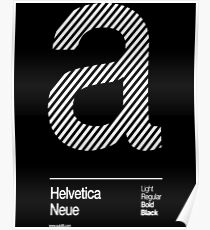 a .... Helvetica Neue Poster