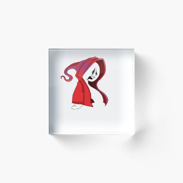 Red ghost 4 Acrylic Block