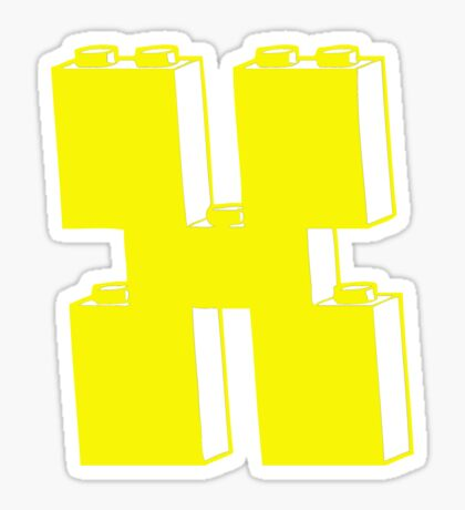 THE LETTER X by Customize My Minifig Sticker