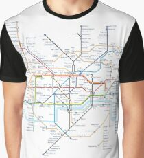 London Underground Tube Map of Anagrams Graphic T-Shirt