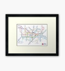 London Underground Tube Map of Anagrams Framed Print