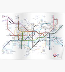 London Underground Tube Map of Anagrams Poster
