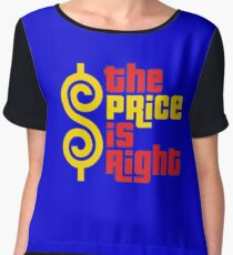 the price is right 1 Women's Chiffon Top