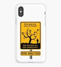 funny risk iPhone Case/Skin