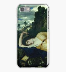 Arnold Bcklin - Sleeping Diana Watched By Two Fauns 1877 85 iPhone Case/Skin