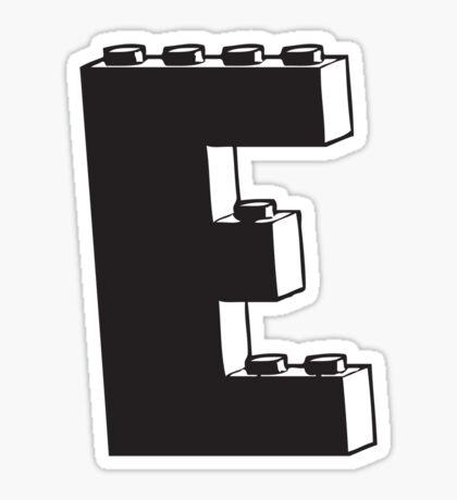 THE LETTER E  Sticker