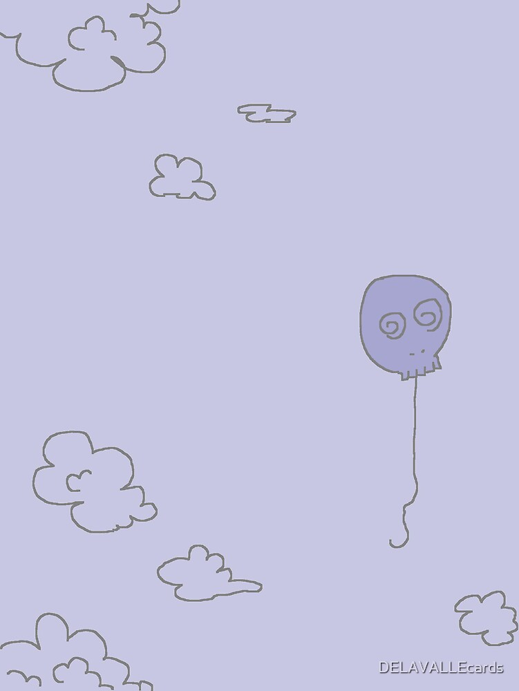 skull Balloon by DELAVALLEcards