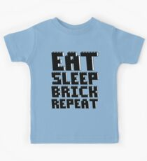 EAT, SLEEP, BRICK, REPEAT Kids Tee