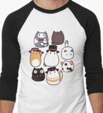 Fancy Blob Cats in Color! Men's Baseball ¾ T-Shirt