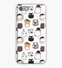 Fancy Blob Cats in Color! iPhone Case/Skin