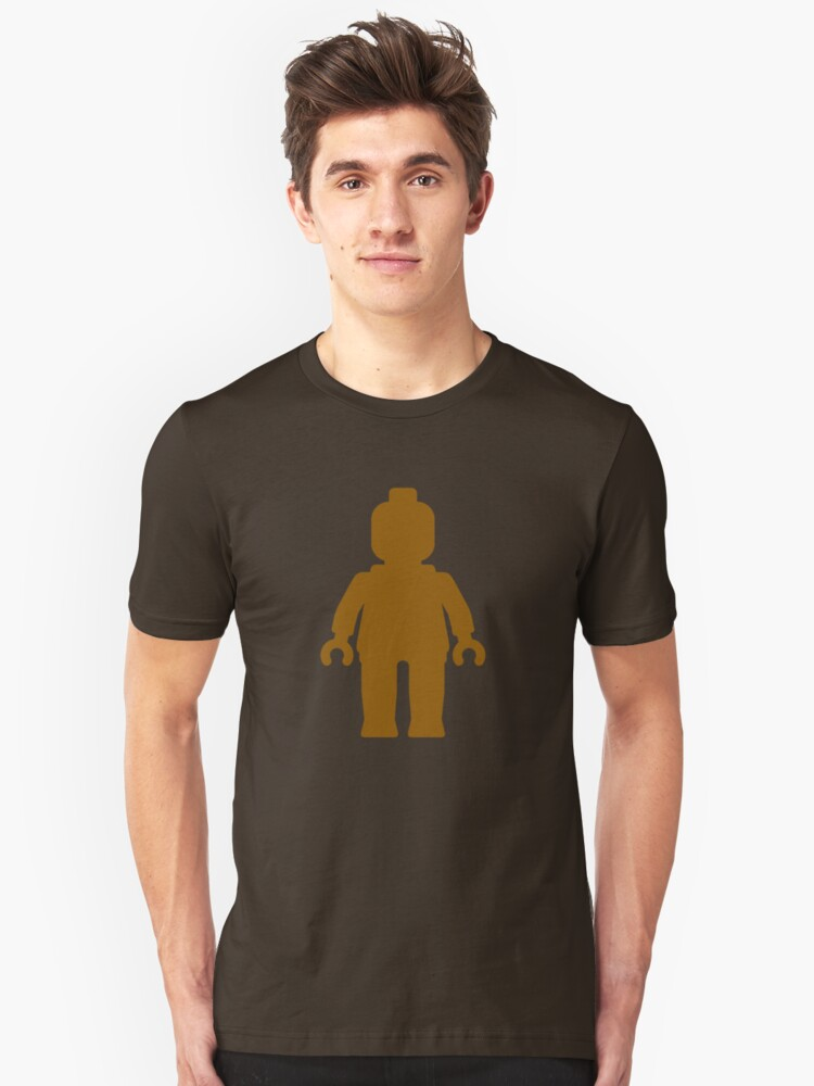 Minifig [Brown]  Unisex T-Shirt Front