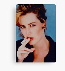 Gillian Anderson Smoking Canvas Print