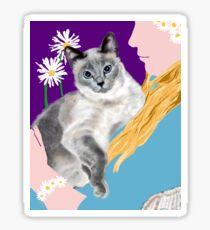 Tasha with the Flower Goddess Sticker