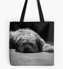 Tired pup Tote Bag