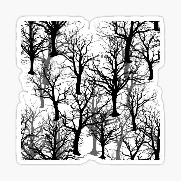 Black Trees - Twin Peaks Inspired Sticker