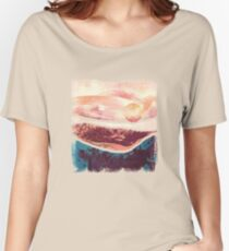 Coral Sky Women's Relaxed Fit T-Shirt
