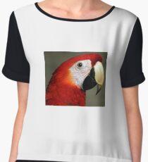 Capri Macaw Chiffon Top