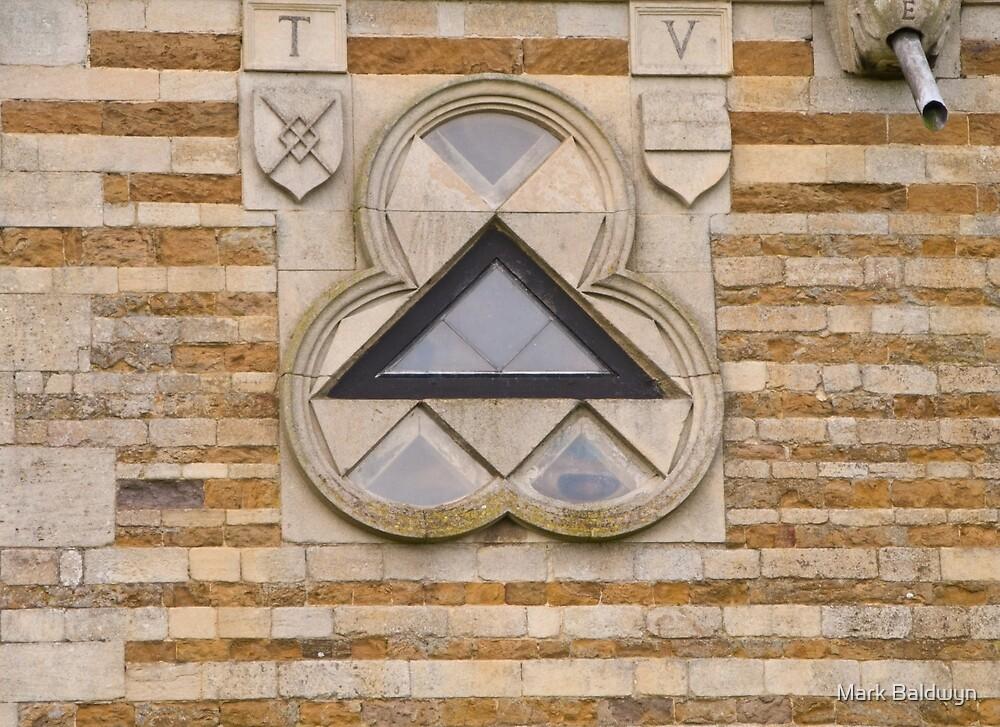 Triangular window by Mark Baldwyn
