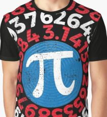 Pi Day 2017 Funny Pi Superhero Style Graphic T-Shirt
