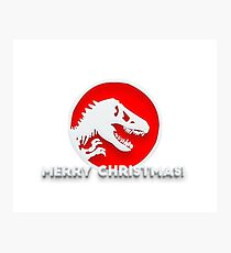 Jurassic Merry Christmas Photographic Print