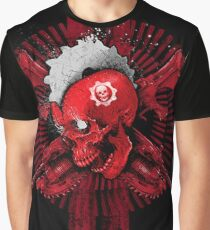 'Gears of war 4' skull on a black background Graphic T-Shirt