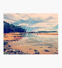 Beach Triangles II Photographic Print