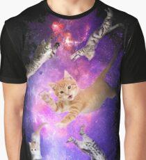 Kittens in Space! Inter-cat-lactic! Graphic T-Shirt