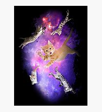 Kittens in Space! Inter-cat-lactic! Photographic Print