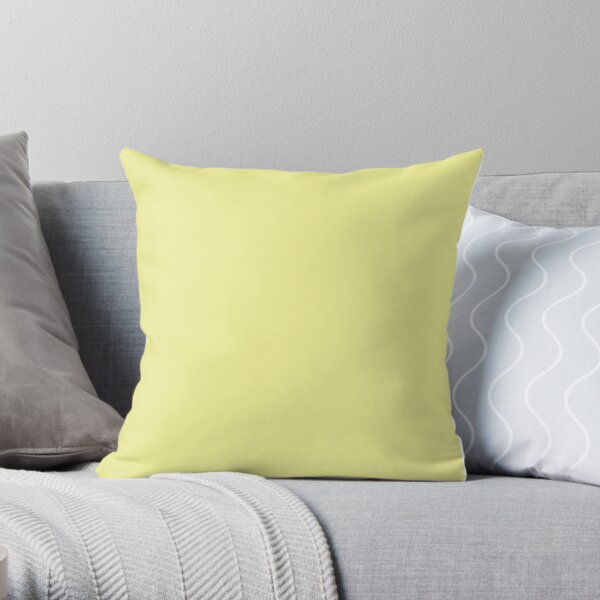 Pastel Yellow / Pastel Yellow Solid Color Throw Pillow