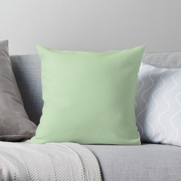 Pastel Green / Tea Green Solid Color Throw Pillow