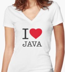 I ♥ JAVA Women's Fitted V-Neck T-Shirt