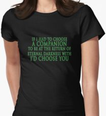 I'd Choose You (Slytherin Colours) Womens Fitted T-Shirt