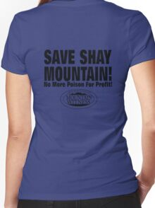 Save Shay Mountain Protest Shirt Back Women's Fitted V-Neck T-Shirt