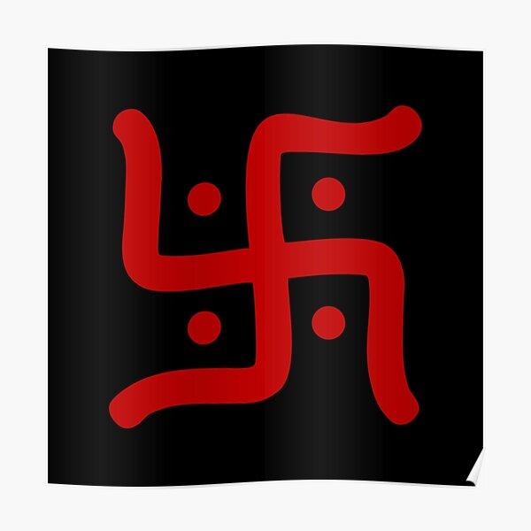 hindu swastika symbol Poster
