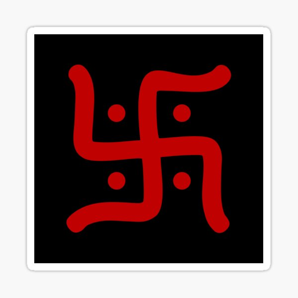 hindu swastika symbol Sticker
