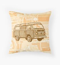 Brown Bay Campervan Dub-U (please see description) Throw Pillow