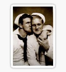 Two Sailors Embrace / 326040 Sticker