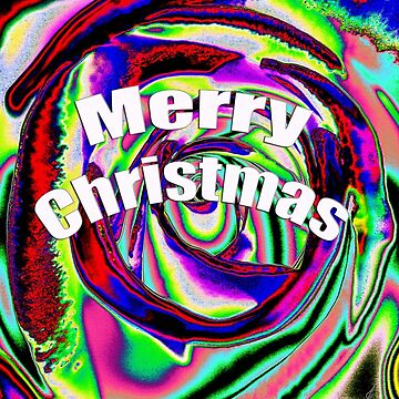 Psychedelic Merry Christmas by zyonchilde